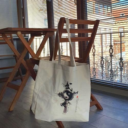 Kanvas Körüklü Çanta Yin-Yang