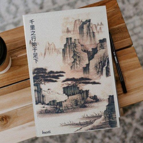 Çince Kanvas Defter - 1810 千里之行始于足下
