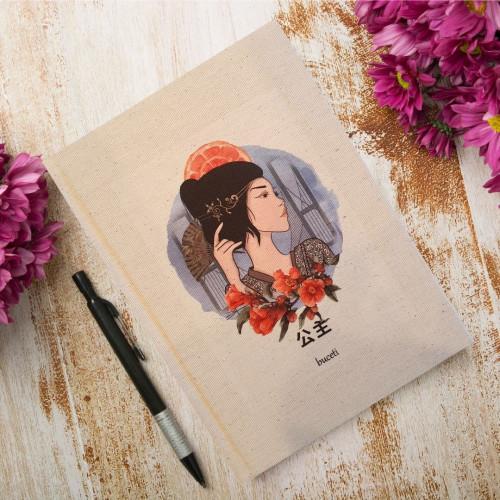 Çince Kanvas Defter -1807-公主
