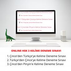 Online HSK 3 Çince Türkçe Kelime Sınavı